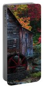 Painting Babcock State Park Glades Creek Grist Mill West Virginia Portable Battery Charger