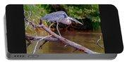 Painting Blue Heron Oak Creek Portable Battery Charger