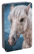 Painting Of A Brindle Horse With White Coat Portable Battery Charger