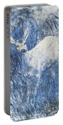 Painting Of Young Deer In Wild Landscape With High Grass. Graphic Effect. Portable Battery Charger