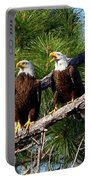 Pair Of American Bald Eagle Portable Battery Charger