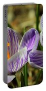 Pair Of Blooming Crocuses Portable Battery Charger