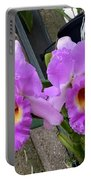 Pretty Purple Orchids Portable Battery Charger