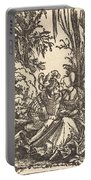 Pair Of Lovers In A Landscape Portable Battery Charger