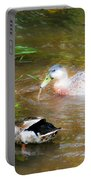 Pair Of Mallard Duck 9 Portable Battery Charger