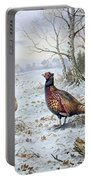 Pair Of Pheasants With A Wren Portable Battery Charger