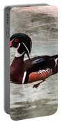 Pair Of Wood Ducks Portable Battery Charger