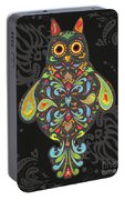 Paisley Owl Portable Battery Charger