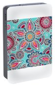 Paisley Petals Portable Battery Charger