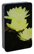 Pale Yellow Water Lilies Portable Battery Charger