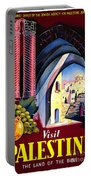 Palestine Travel Poster Portable Battery Charger