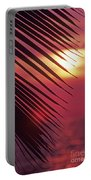 Palm At Sunset Portable Battery Charger