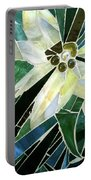 Palm Flower Mosaic Portable Battery Charger