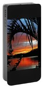 Palm Framed Sunset Portable Battery Charger