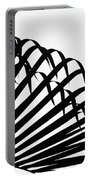 Palm Frond Black And White Portable Battery Charger