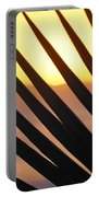 Palm Frond Detail Portable Battery Charger