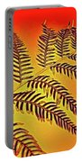 Palm Frond In The Summer Heat Portable Battery Charger