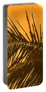 Palm Frond Sunset Portable Battery Charger