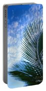 Palm Fronds And Clouds Portable Battery Charger
