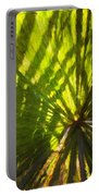 Palm Leaves And Morning Light Portable Battery Charger