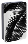 Palm Leaves Bw Portable Battery Charger