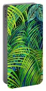 Palm Leaves Portable Battery Charger
