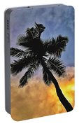 Palm On The Beach Portable Battery Charger