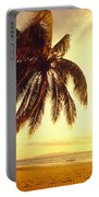 Palm Over The Beach Portable Battery Charger