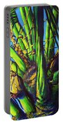 Palm Tree At Sunset Portable Battery Charger
