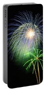 Palm Tree Fireworks Portable Battery Charger