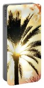 Palm Tree In The Sun #2 Portable Battery Charger