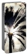 Palm Tree In The Sun #3 Portable Battery Charger