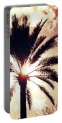Palm Tree In The Sun Portable Battery Charger