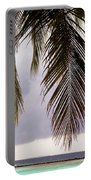 Palm Tree Leaves At The Beach Portable Battery Charger