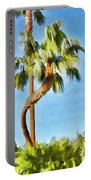 Palm Tree Needs A Chiropractor Painterly I Portable Battery Charger
