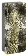 Palm Tree Pen And Ink Grayscale With Sepia Tones Portable Battery Charger
