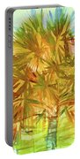 Palm Tree Portrait Portable Battery Charger