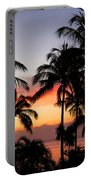 Palm Tree Silhouettes Portable Battery Charger