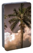 Palm Trees Against Beautiful Sky Portable Battery Charger