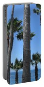 Palm Trees At Laguna Beach Portable Battery Charger