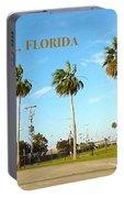 Palm Trees Of Daytona Florida Portable Battery Charger