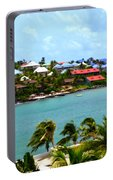 Palm Trees Of Oyster Bay Portable Battery Charger