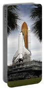Palmetto Trees Frame Space Shuttle Portable Battery Charger by Stocktrek Images