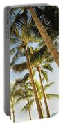 Palms Against Blue Sky Portable Battery Charger
