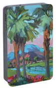 Palms And Coral Mountain Portable Battery Charger