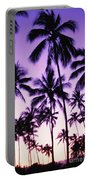 Palms And Purple Sky Portable Battery Charger