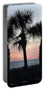 Palms At Sunset  Portable Battery Charger