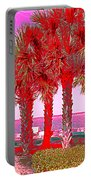 Palms In Red Portable Battery Charger