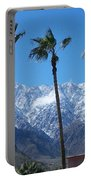 Palms With Snow Portable Battery Charger