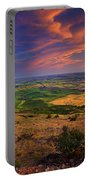Palouse Skies Ablaze Portable Battery Charger